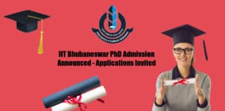 IIT Bhubaneswar PhD Admission Announced - Applications Invited