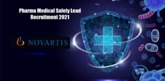 Pharma Medical Safety Lead Recruitment 2021 - Novartis