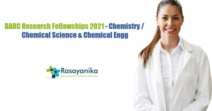 BARC Research Fellowships 2021