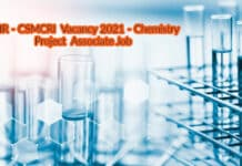 CSIR-CSMCRI Vacancy 2021 - Chemistry Project Associate Job
