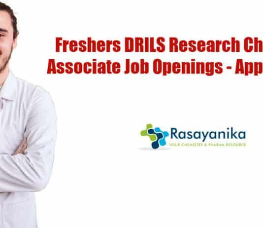 Freshers DRILS Research Chemist