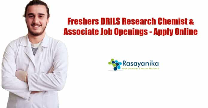 Freshers DRILS Research Chemist