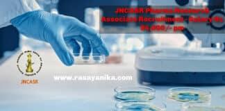 JNCASR Pharma Research Associate Recruitment - Salary Rs 54,000_- pm (1)