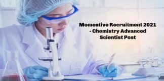 Momentive Recruitment 2021 - Chemistry Advanced Scientist Post