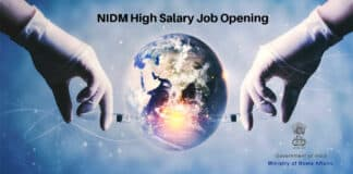 NIDM High Salary Job Opening - Chemistry & Chemical Science Project Associate