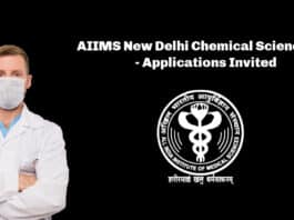 AIIMS New Delhi Chemical Science Job - Applications Invited