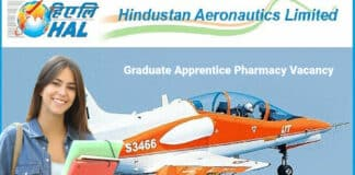 HAL Graduate Apprentice Pharmacy Vacancy - Hindustan Aeronautics Limited