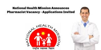 National Health Mission Announces Pharmacist Vacancy - Applications Invited