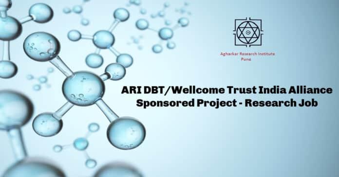 ARI DBT/Wellcome Trust India Alliance Sponsored Project - Research Job