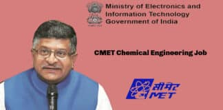 CMET Chemical Engineering Job - Ministry of Electronics and Information Technology