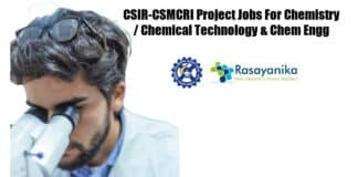 CSMCRI Chemistry Jobs