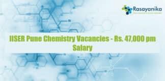 IISER Pune Chemistry Vacancies