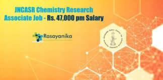 JNCASR Chemistry Research Associate