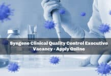 Syngene Clinical Quality Control Executive Vacancy - Apply Online