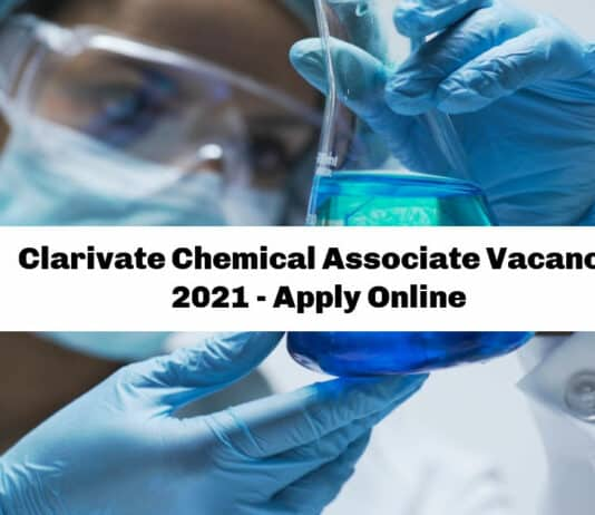 Clarivate Chemical Associate Vacancy 2021 - Apply Online