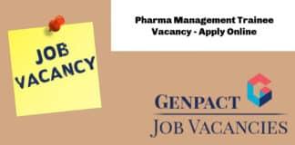 Genpact Pharma Management Trainee Vacancy - Apply Online