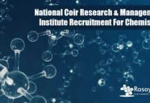 Govt NCRMI Chemistry Jobs