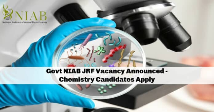 Govt NIAB JRF Vacancy Announced - Chemistry Candidates Apply