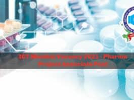 ICT Mumbai Vacancy 2021 - Pharma Project Associate Post