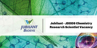 Jubilant - JDDDS Chemistry Research Scientist Vacancy - Apply