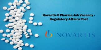 Novartis B Pharma Job Vacancy - Regulatory Affairs Post