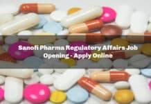 Sanofi Pharma Regulatory Affairs Job Opening - Apply Online