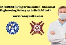 CSIR-CMERI Hiring Sr Scientist - Chemical Engineering Salary up to Rs 2.90 Lakh