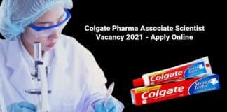 Colgate Pharma Associate Scientist Vacancy 2021 - Apply Online
