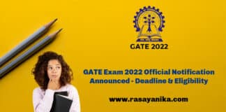 GATE Exam 2022 Official Notification Announced - Deadline & Eligibility