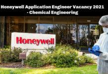 Honeywell Application Engineer Vacancy 2021 - Chemical Engineering