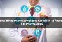 Teva Hiring Pharmacovigilance Associate - B Pharma & M Pharma Apply
