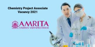 Amrita Vishwa Vidyapeetham - Chemistry Project Associate Vacancy