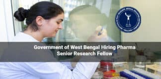Government of West Bengal Hiring Pharma Senior Research Fellow