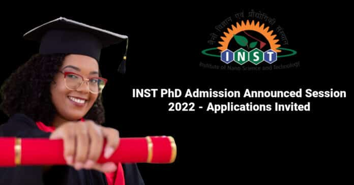 INST PhD Admission Announced Session 2022 - Applications Invited
