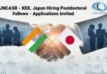 JNCASR - KEK, Japan Hiring Postdoctoral Fellows - Applications Invited