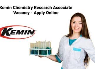 Kemin Chemistry Research Associate Vacancy - Apply Online