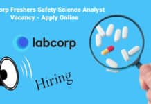 LabCorp Freshers Safety Science Analyst Vacancy - Apply Online