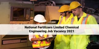 National Fertilizers Limited Chemical Engineering Job Vacancy 2021