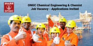 ONGC Chemical Engineering & Chemist Job Vacancy - Applications Invited