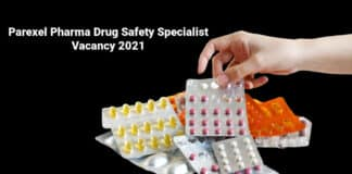 Parexel Pharma Drug Safety Specialist Vacancy 2021 - Apply Online