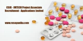 CSIR - IMTECH Project Associate Recruitment - Applications Invited