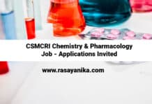 CSMCRI Chemistry & Pharmacology Job - Applications Invited