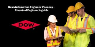 Dow Automation Engineer Vacancy - Chemical Engineering Job