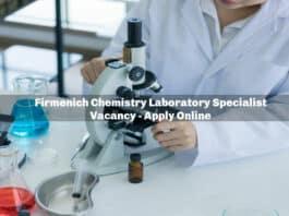 Firmenich Chemistry Laboratory Specialist Vacancy - Apply Online