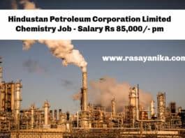 Hindustan Petroleum Corporation Limited Chemistry Job - Salary Rs 85,000/- pm