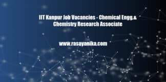 IIT Kanpur Job Vacancies - Chemical Engg & Chemistry Research Associate