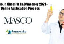 Masco Jr Chemist R&D