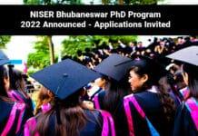 NISER Bhubaneswar PhD Program 2022 Announced - Applications Invited