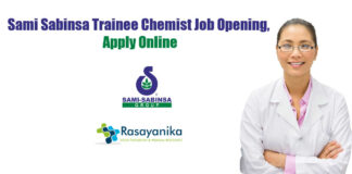 Sami Sabinsa Trainee Chemist