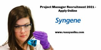 Syngene Project Manager Recruitment 2021 - Apply Online